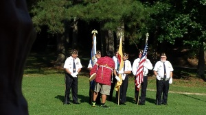 Ric Bird greeting the Color Guard